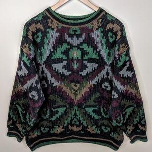 Generra Graphic Navajo Sweater